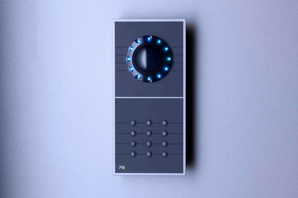 Handvenenscanner an der Wand
