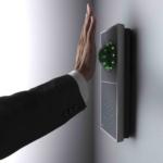 Handvenenscanner seitlich mit Hand
