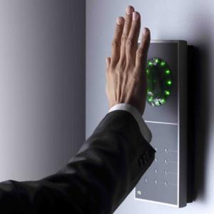 Handvenenscanner seitlich mit grünen LEDs